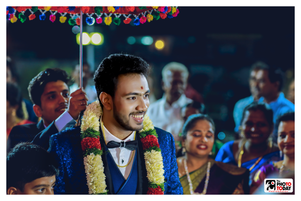 Its the groom's moment!! Full of Smile,Full of Life!! — with RJ Abikumar at The Photo Today Photography.